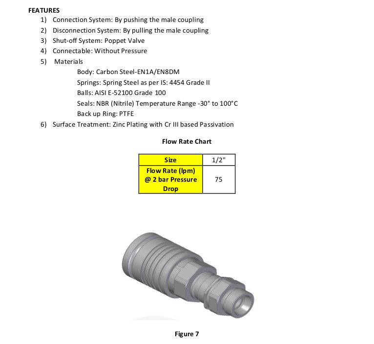 Unitread ISO-5675 Push Pull Series Hydraulic Couplings