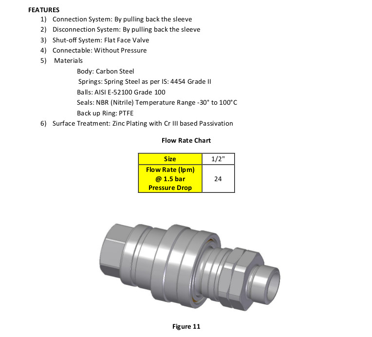 Unitread ISO-5676 Trailer Brake Coupling