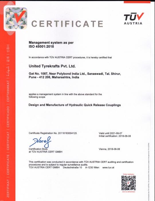 Unitread ISO 45001_2018